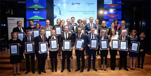 GPW ogłosiła wyniki XI edycji projektu RESPECT Index